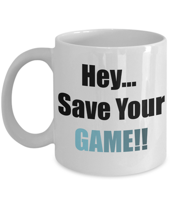 Save your game! Coffee mug