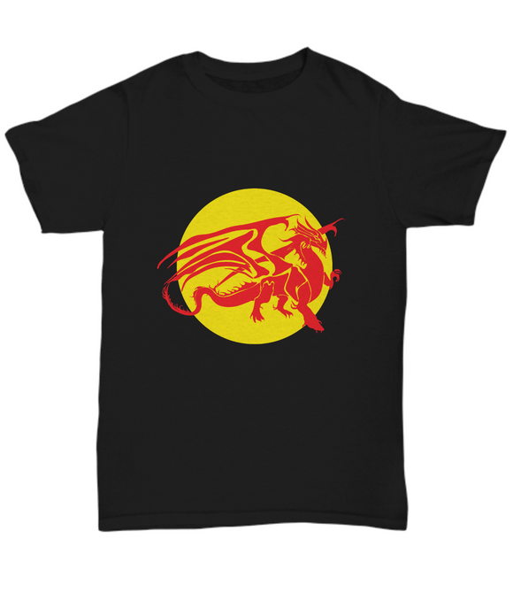 Ancient Red Dragon Dungeons and Dragons Black Youth/Mens/Womens T-shirt