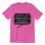 Speaking Bubble Chalkboard Youth T-shirt with 4 Markers
