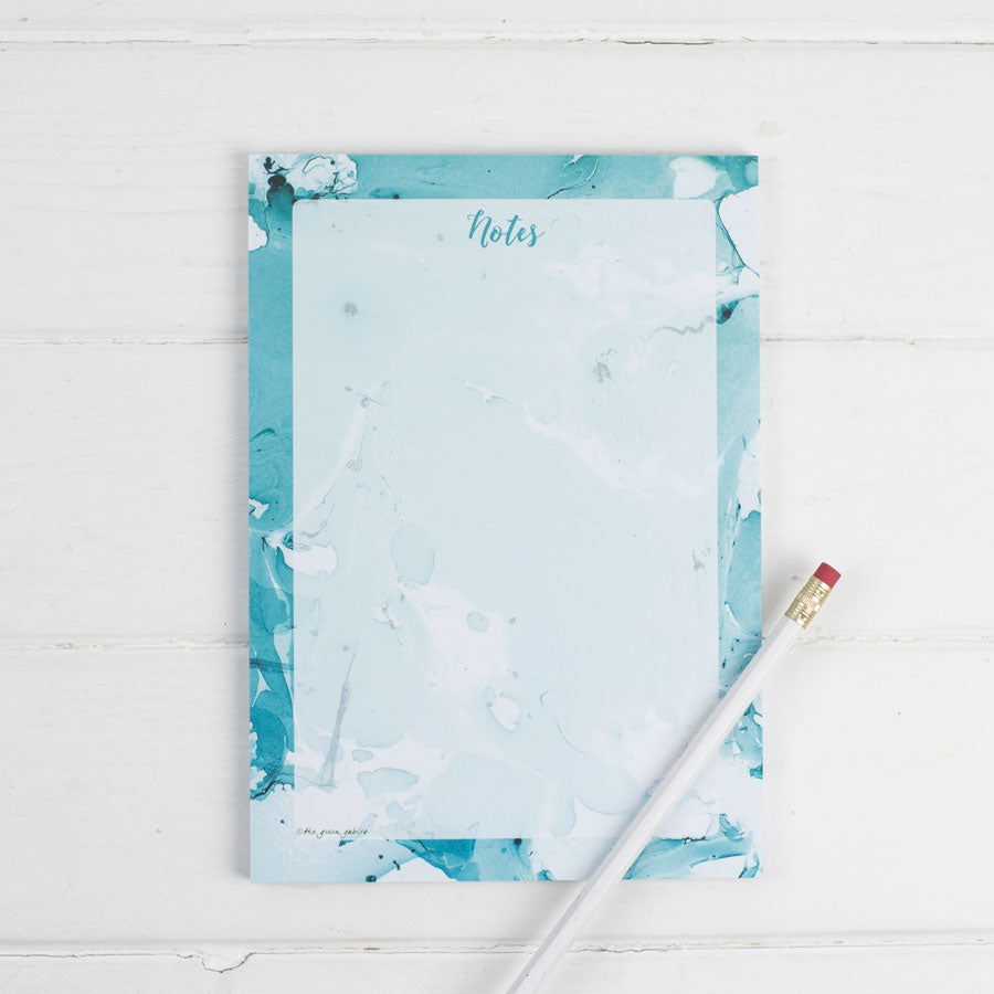 Marble Turquoise Note Pad (with a magnet option) - the green gables store