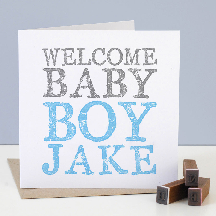 Personalised New Baby Boy Card - the green gables store