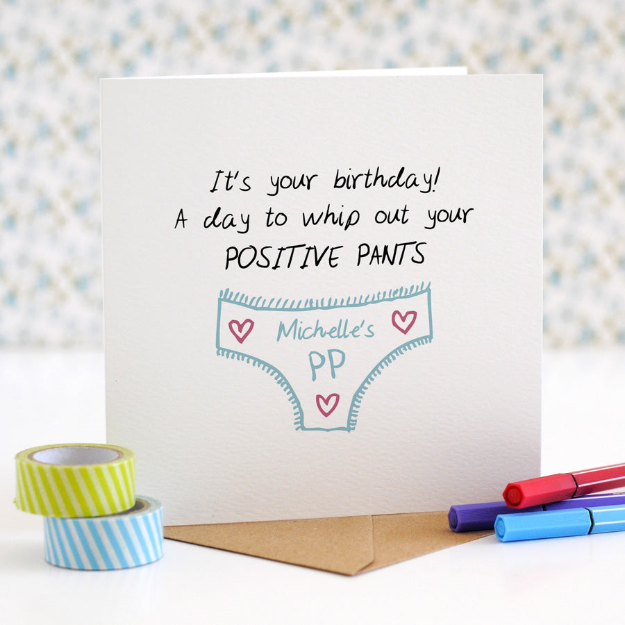 Positive Pants Birthday Card - the green gables store