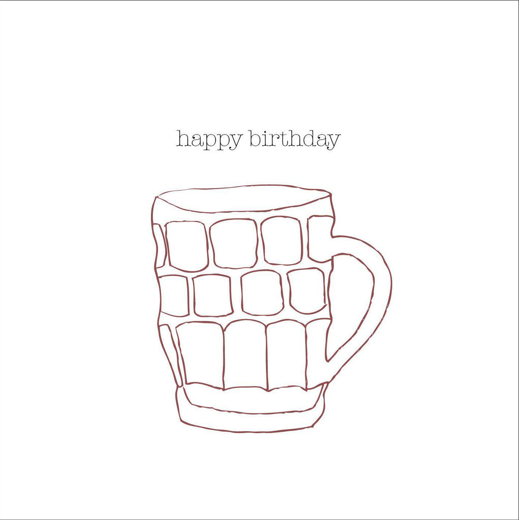 Beer Happy Birthday Card (option to personalise) - the green gables store