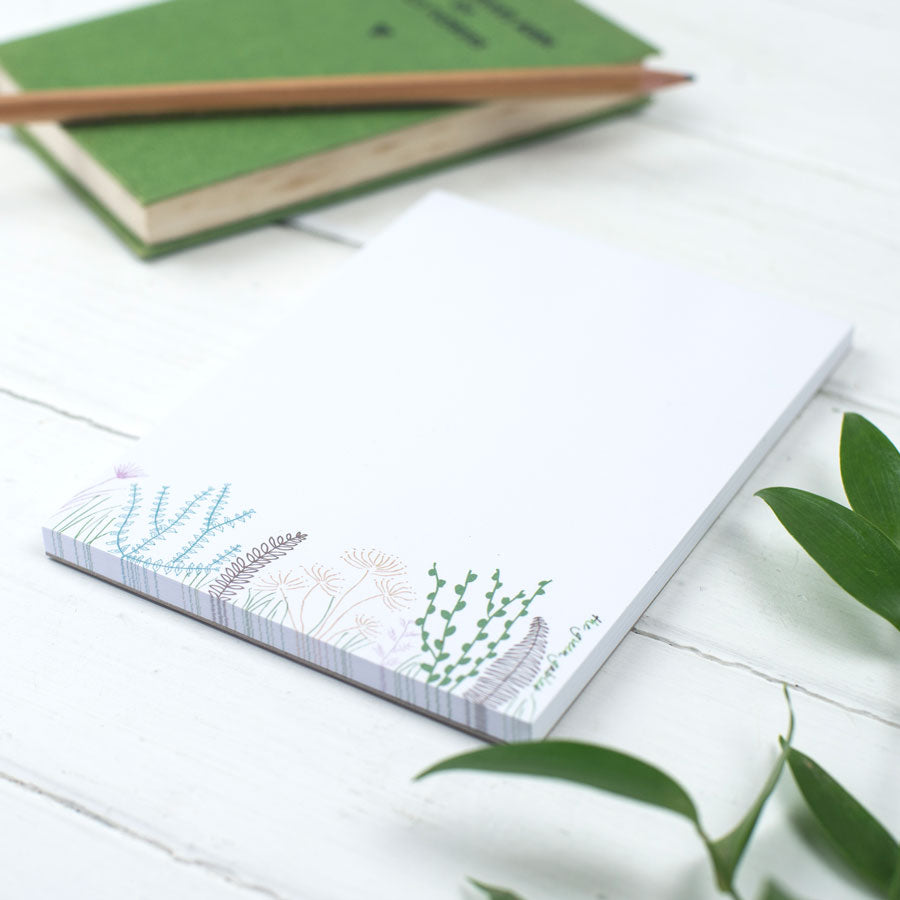 Botanical Note Pad - the green gables store