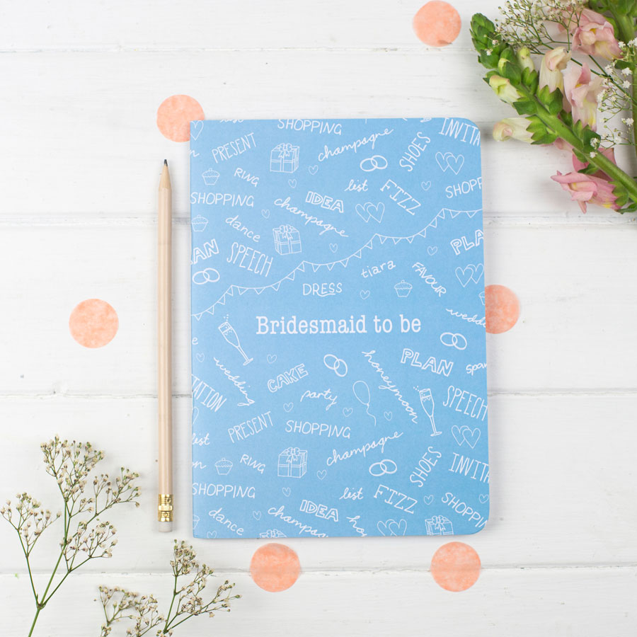 Bridesmaid Notebook - the green gables store