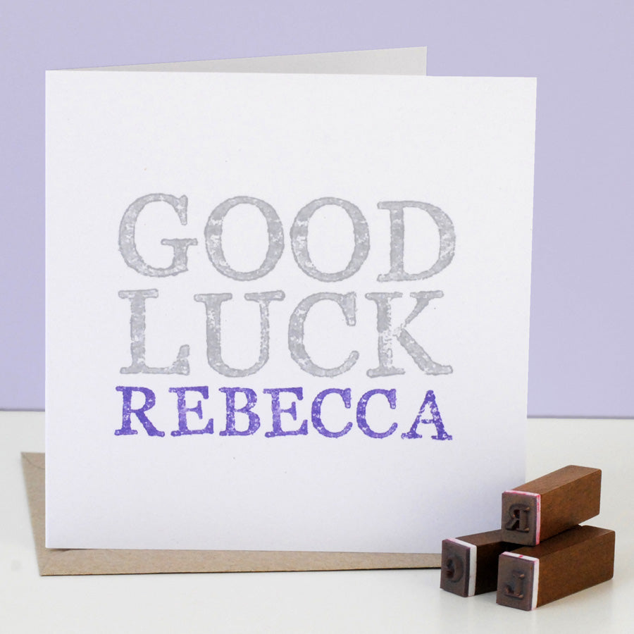 Personalised Good Luck Card - the green gables store