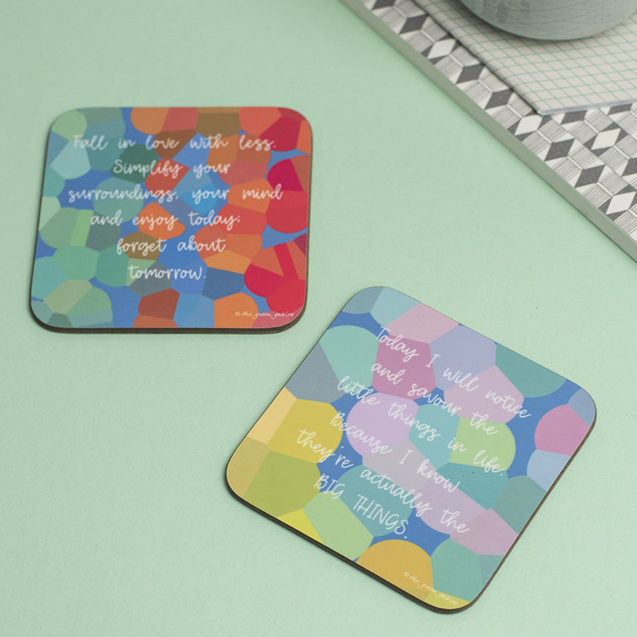 Savouring Little Things Coaster - the green gables store