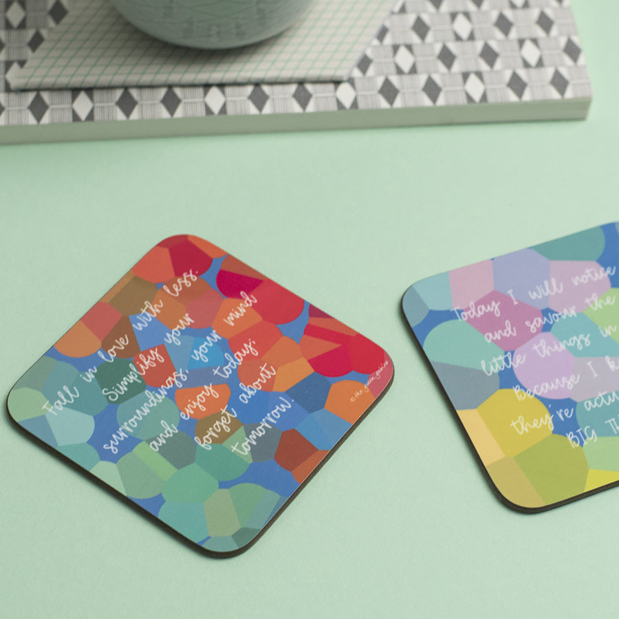Fall in Love with Less Coaster - the green gables store