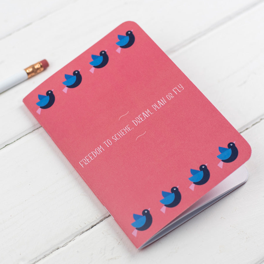 Birds Freedom To Dream Notebook - the green gables store