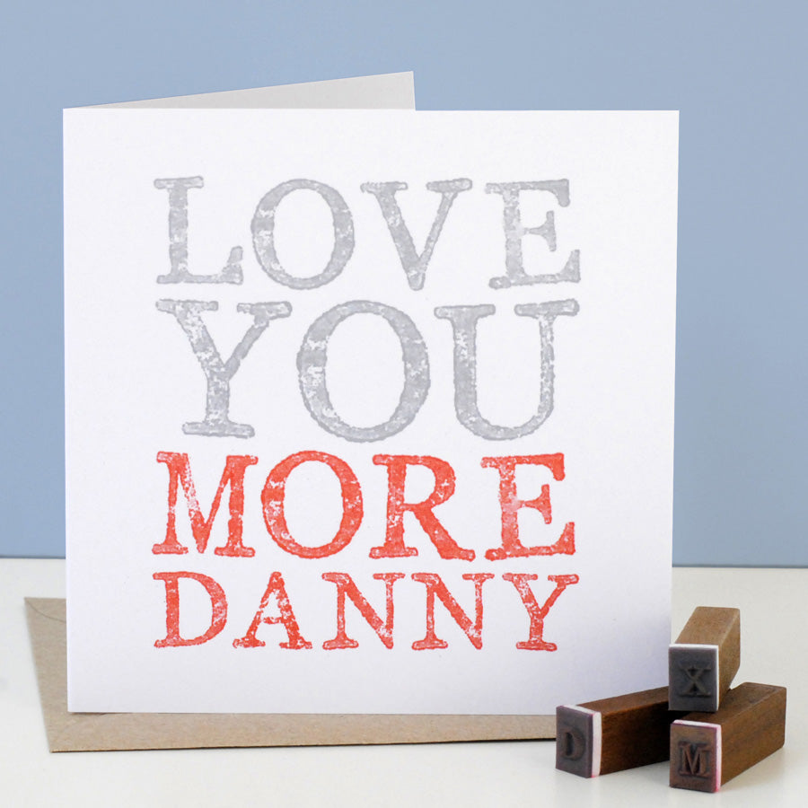 Personalised Love You More Card - the green gables store