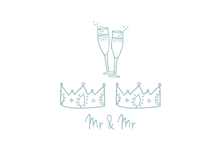 Mr and Mr Wedding Card - the green gables store