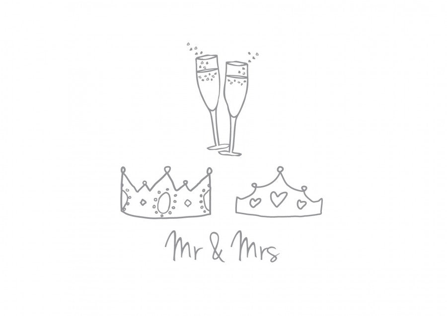 Mr and Mrs Wedding Card - the green gables store