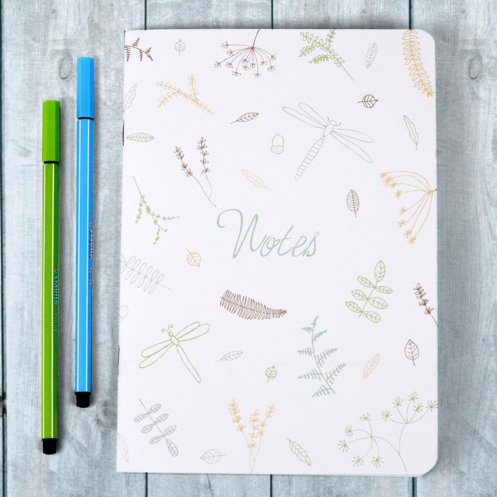A5 Coloured Nature Notebook - the green gables store