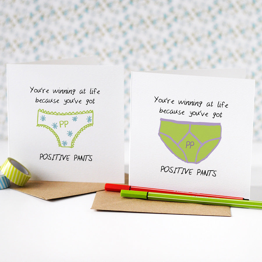 Positive Pants Congratulations Card - the green gables store