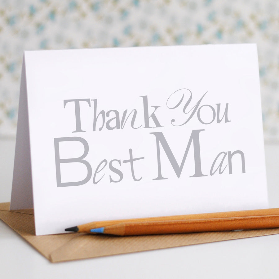 Thank You Best Man Card - the green gables store