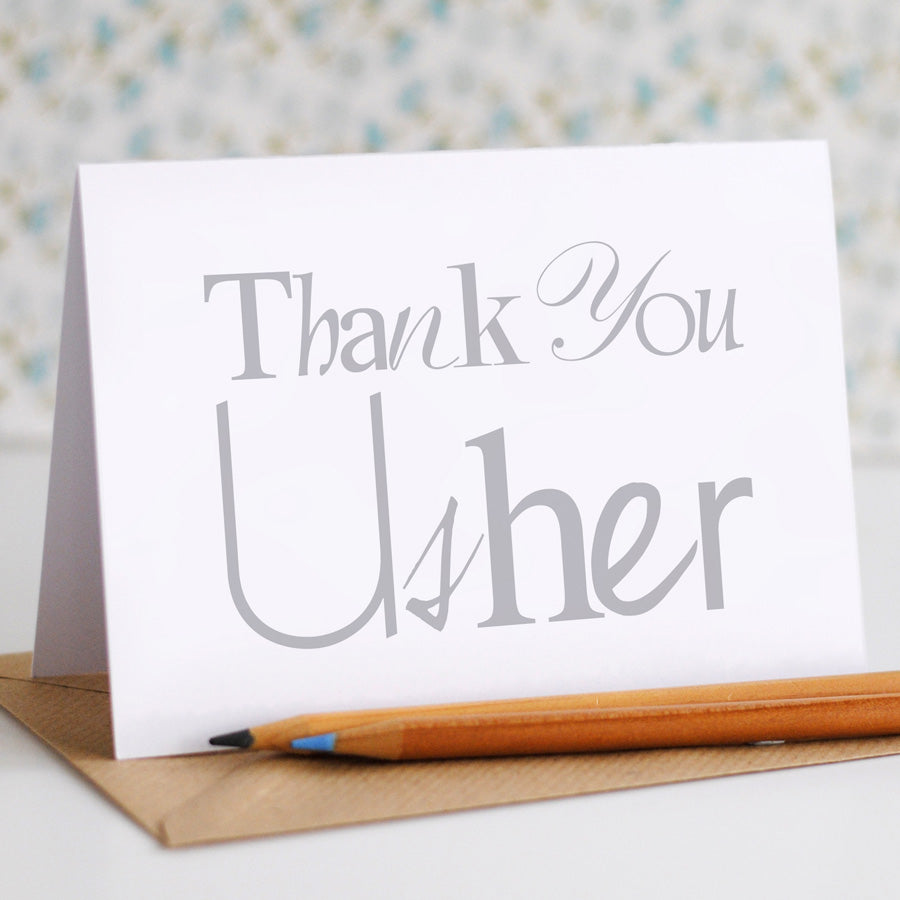 Thank You Usher Card - the green gables store