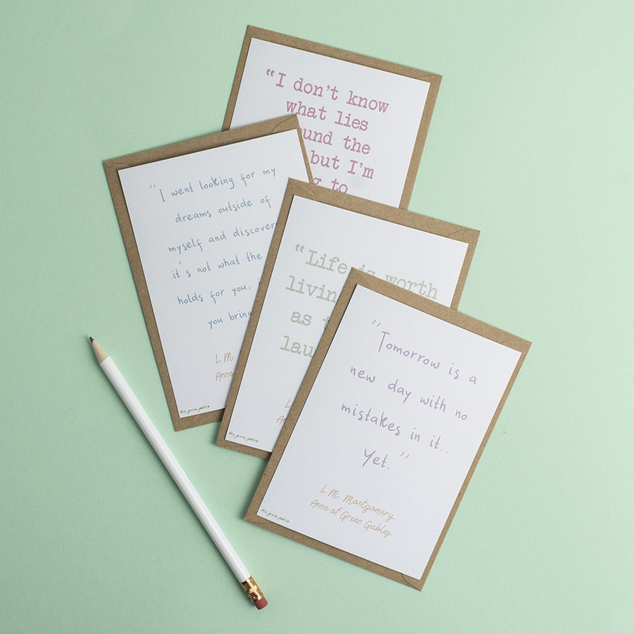 Anne of Green Gables Quotes Postcard Set - the green gables store