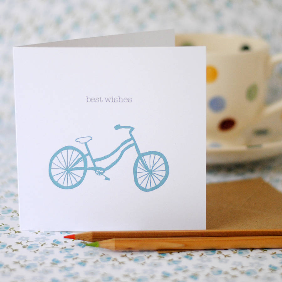 Best Wishes Card (option to personalise) - the green gables store