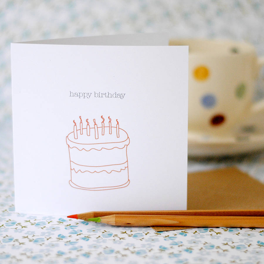 Happy Birthday Card (option to personalise) - the green gables store