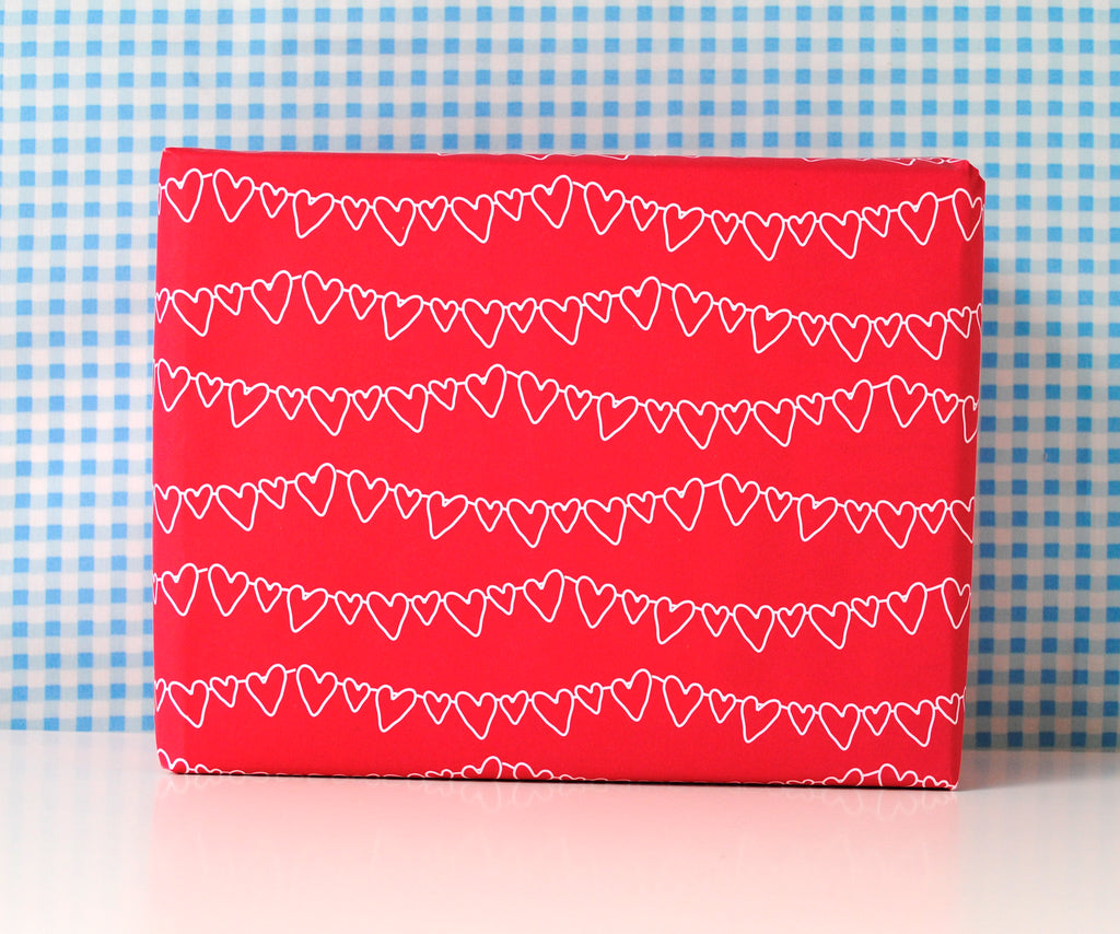 Love Hearts Wrapping Paper Set - the green gables store