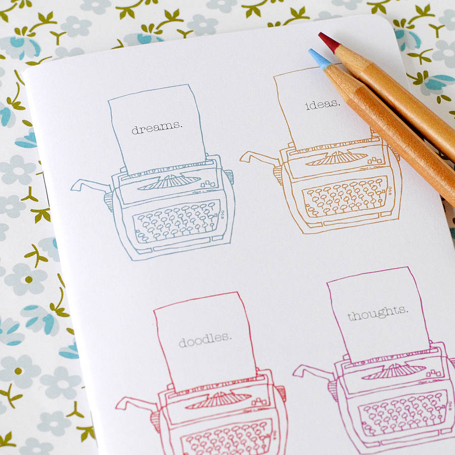 A6 Vintage Typewriter Pocket Notebook - the green gables store