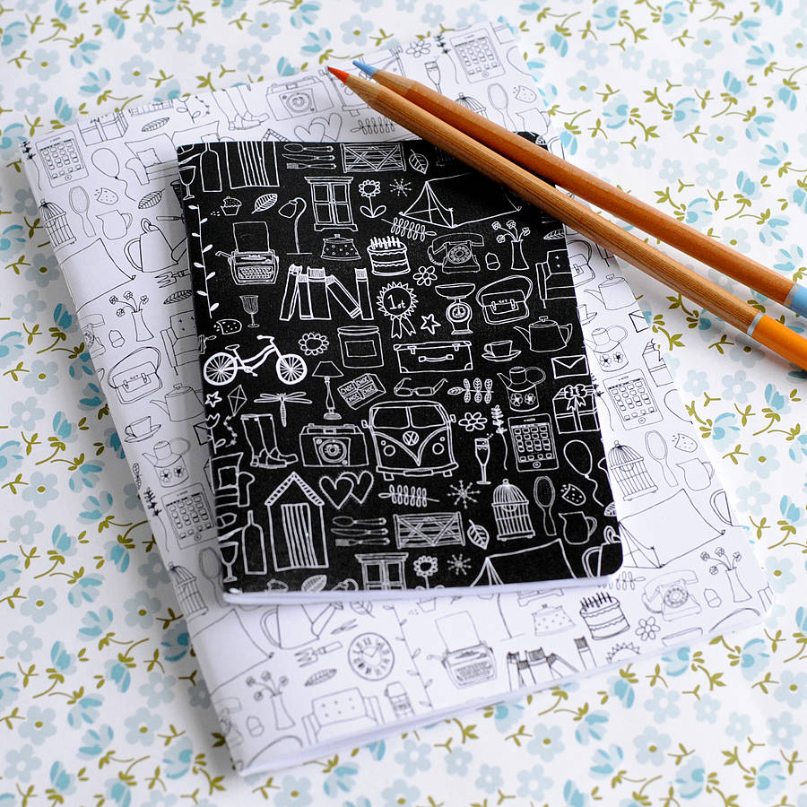 A6 Simple Things Black & White Pocket Notebook - the green gables store