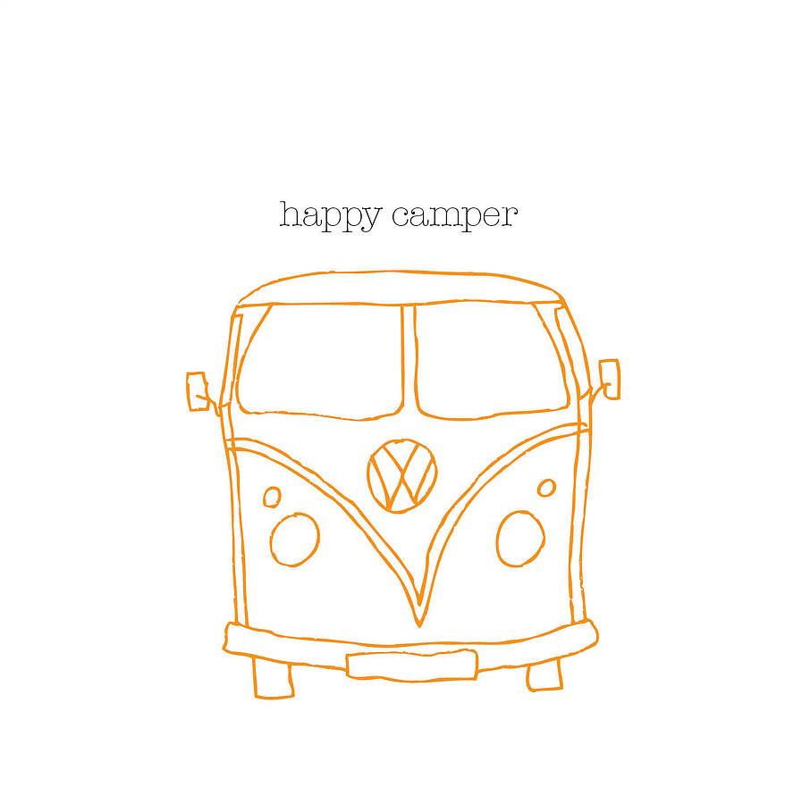 Happy Camper Van Card (option to personalise) - the green gables store