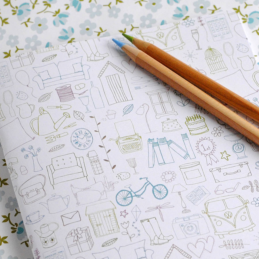 A5 Simple Things Coloured Illustration Notebook - the green gables store