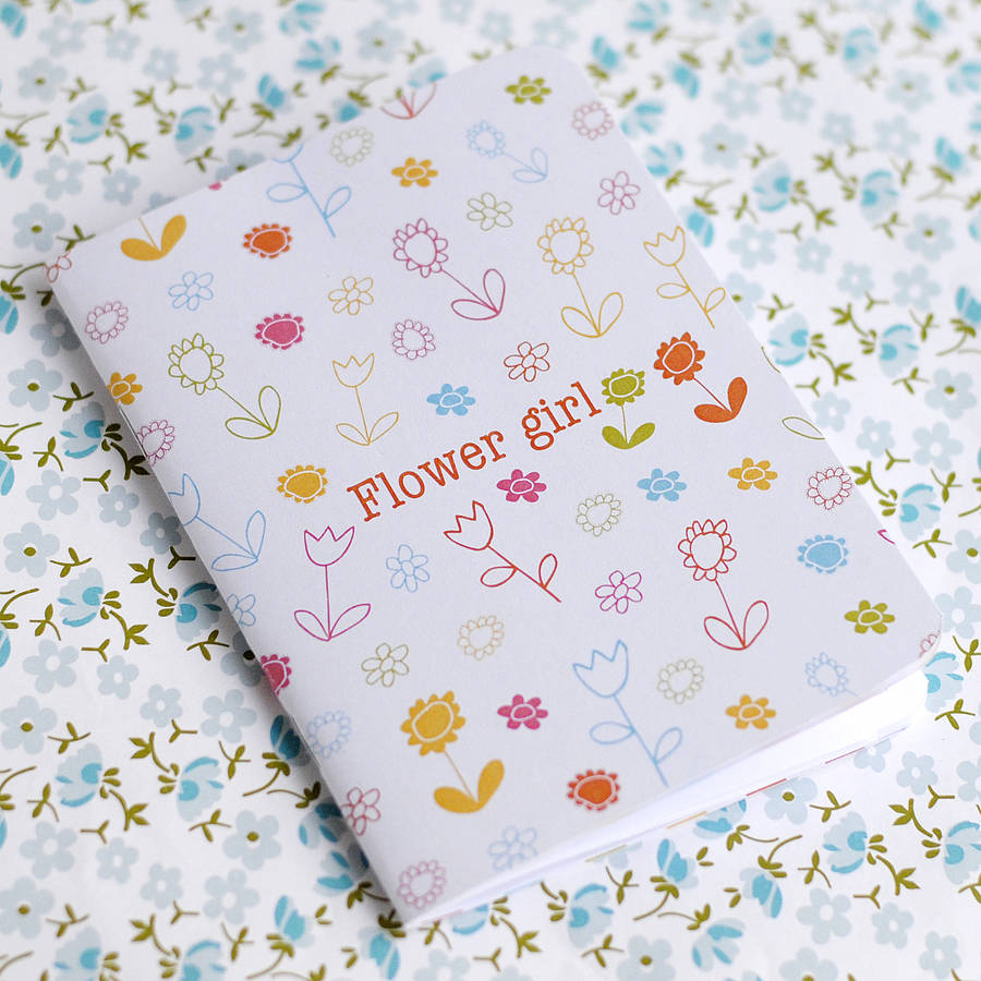 Flower Girl Notebook - the green gables store