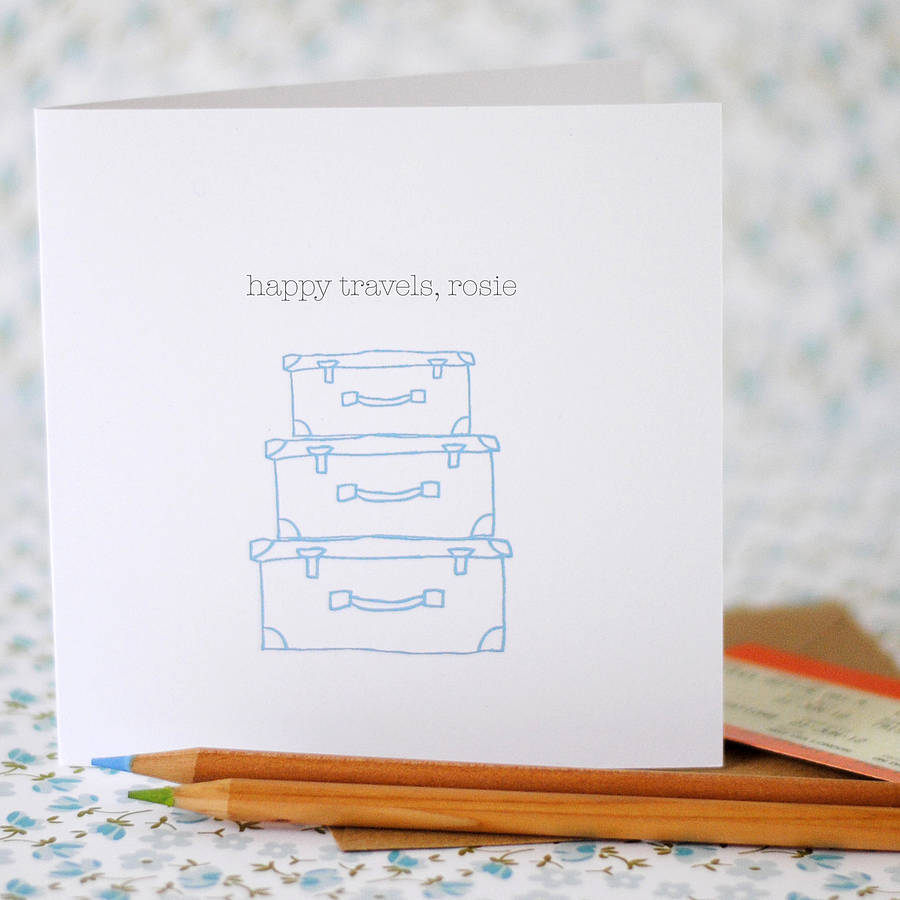 Happy Travels Card (option to personalise) - the green gables store