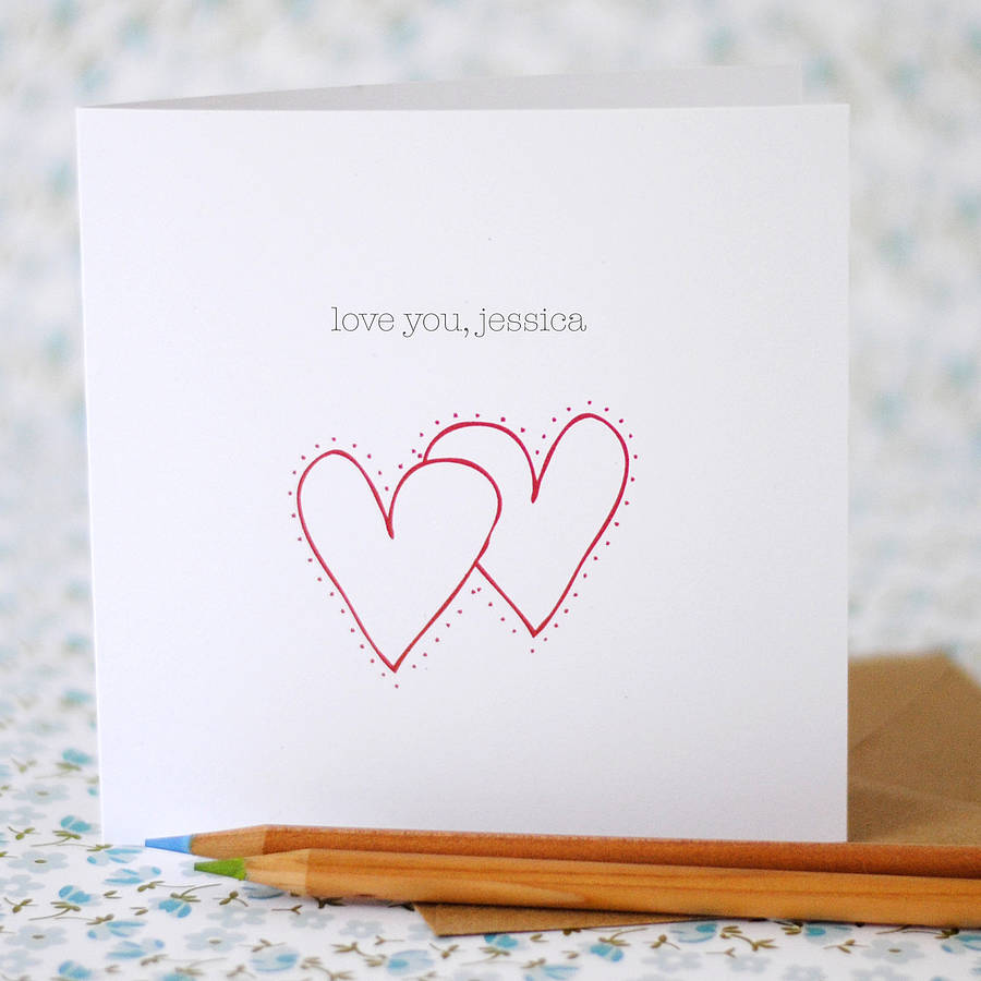 Love You Card (option to personalise) - the green gables store
