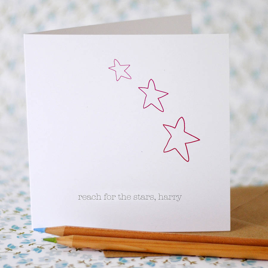 Reach for the Stars Card (option to personalise) - the green gables store