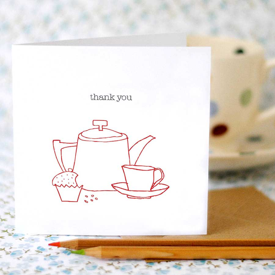 Set of Six Thank You Cards - the green gables store