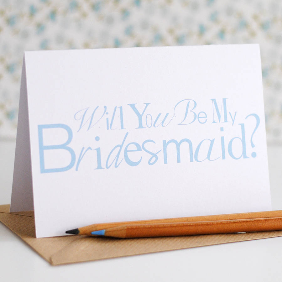 Will you be my Bridesmaid Card - the green gables store