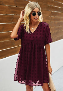 Swiss Dot Holiday Dress