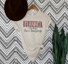 Load image into Gallery viewer, Flannel Is My Love Language Graphic Tee
