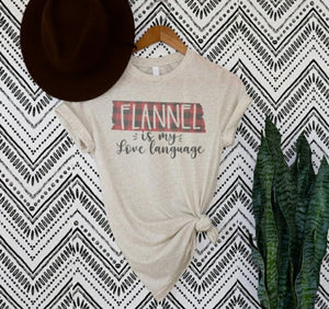 Flannel Is My Love Language Graphic Tee