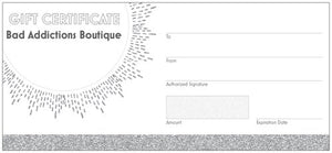 Bad Addictions Boutique Gift Certificate