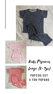 3-PACK KIDS PAJAMAS (LARGE-6/7 YO)
