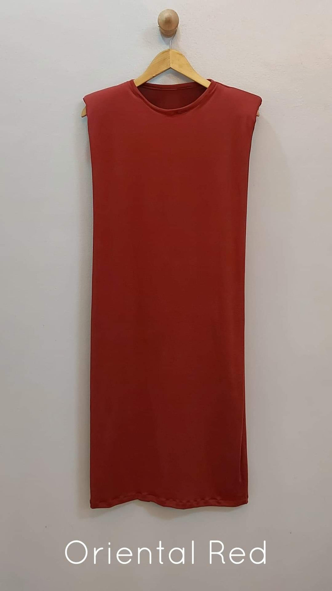 SHOULDER PADDED MAXI DRESS  (FOR PRE-ORDER)