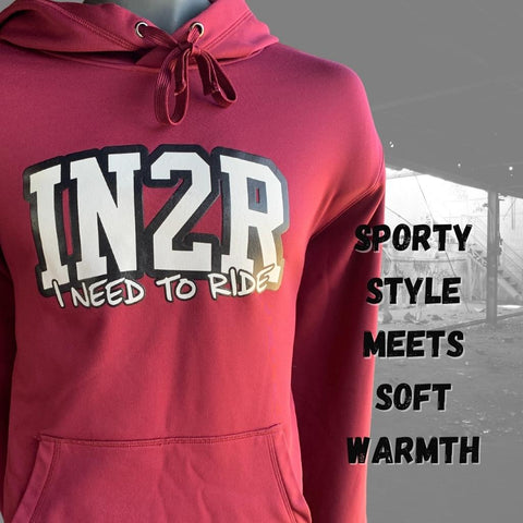 Varsity Edition Hoodie | Available in Coal Grey, Maroon and Lime Shock | IN2R Clothing & Apparel | Saskatoon, Saskatchewan