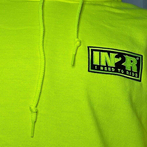 IN2R Neon Yellow Hoodie - IN2R Clothing and Apparel