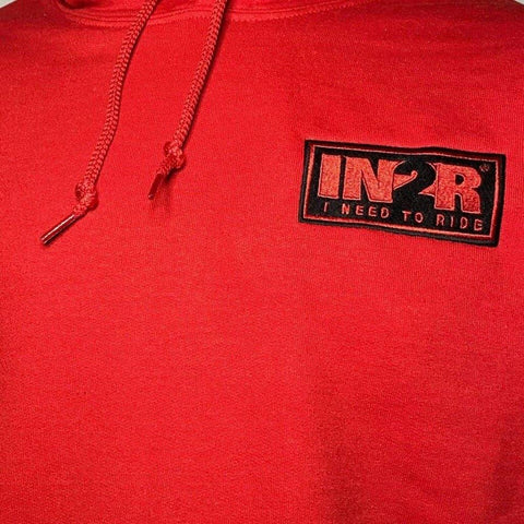 Classic Red Street Hoodie - IN2R Clothing and Apparel, Saskatoon, SK.