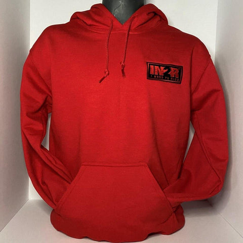 IN2R Classic Red Hoodie - IN2R Clothing and Apparel
