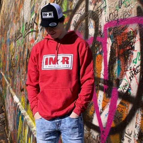 Heather Red Original Hoodie - IN2R Clothing and Apparel