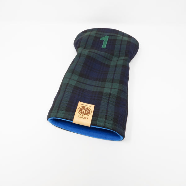 Keyhole Driver Headcover, Black Watch Tartan