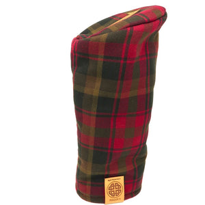 Pipe Style Driver Headcover - Canada Maple Tartan