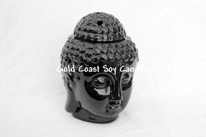 Oil Burner - Buddha Head Black