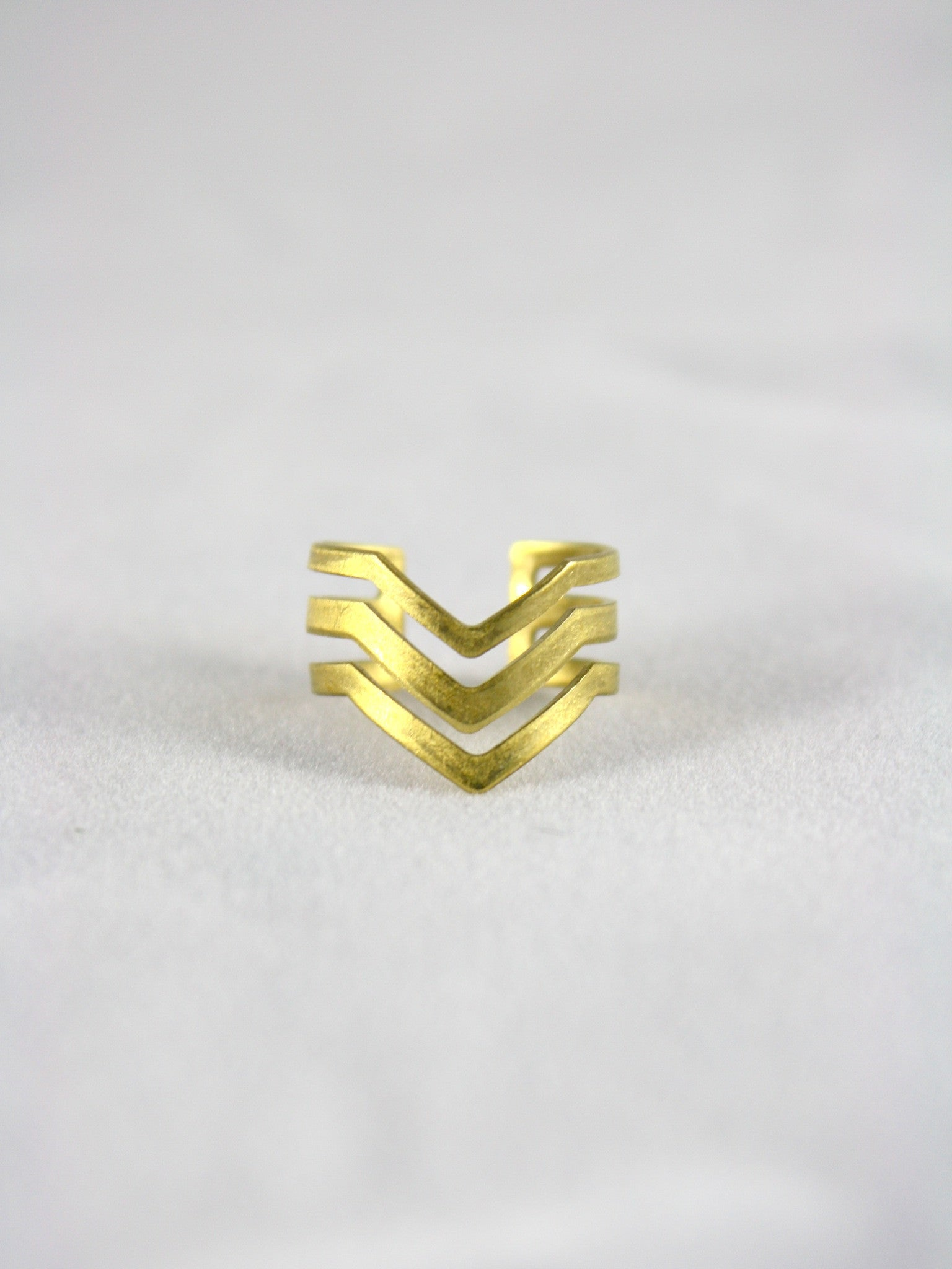 Androgynous Jewelry Chevron Ring Lovely Hunt QPOC Designer Absynia