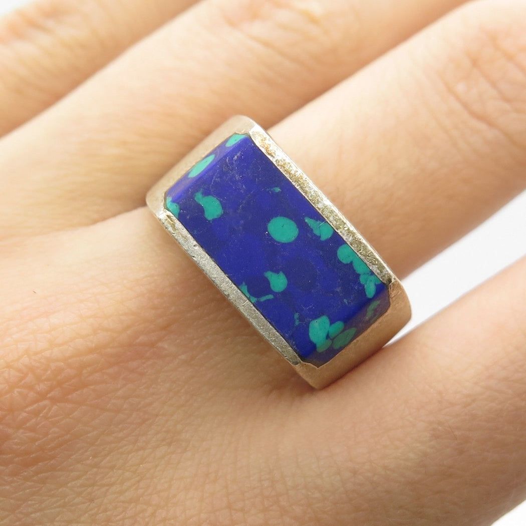 Sea Foam Vintage Azurite Ring